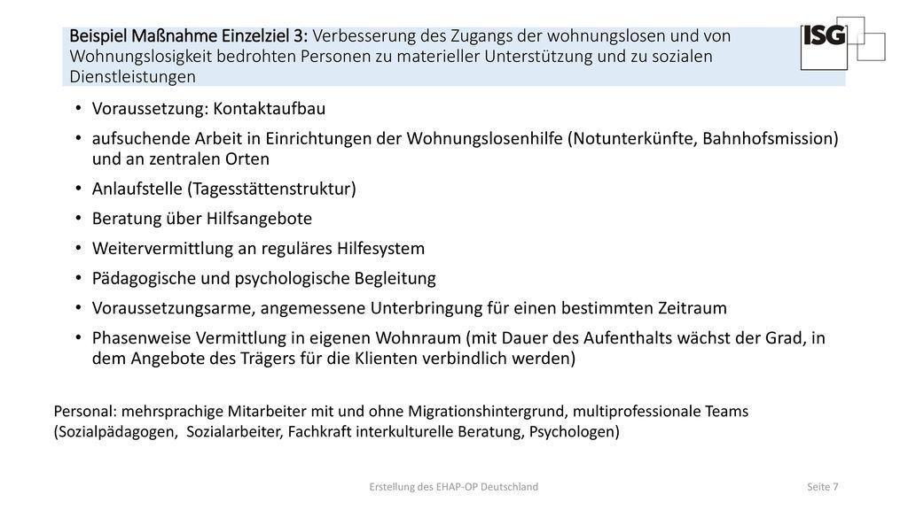 Erstellung des EHAP-OP Deutschland