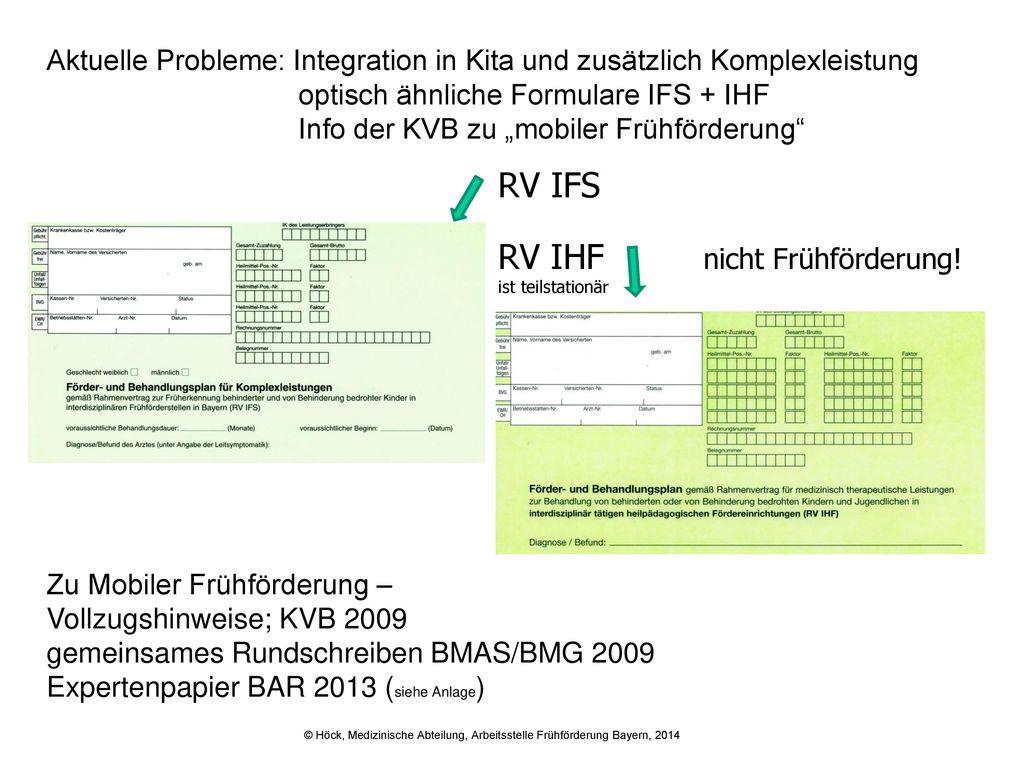 RV IHF nicht Frühförderung!