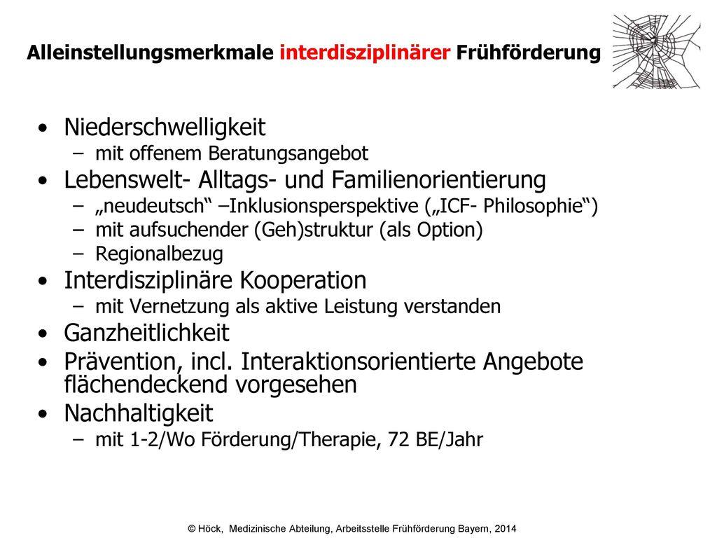 Alleinstellungsmerkmale interdisziplinärer Frühförderung