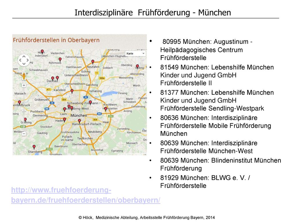 Interdisziplinäre Frühförderung - München