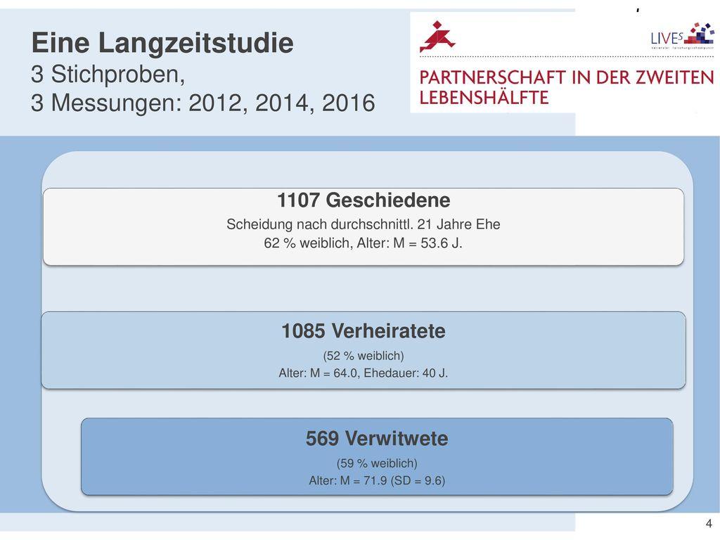 Eine Langzeitstudie 3 Stichproben, 3 Messungen: 2012, 2014, 2016