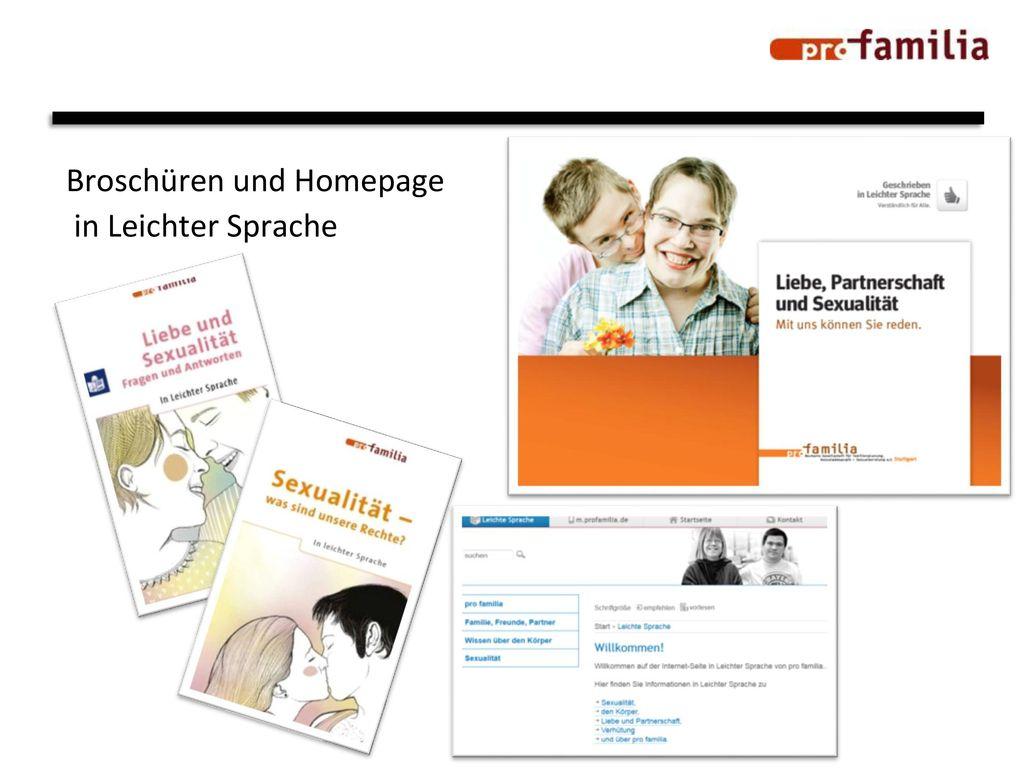 Broschüren und Homepage