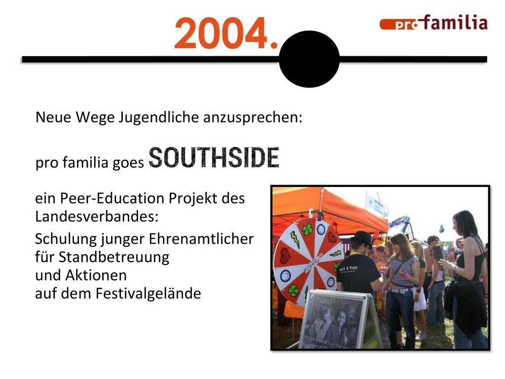2004. Neue Wege Jugendliche anzusprechen: pro familia goes