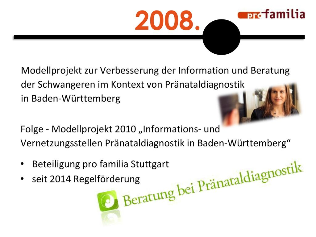2008. Modellprojekt zur Verbesserung der Information und Beratung