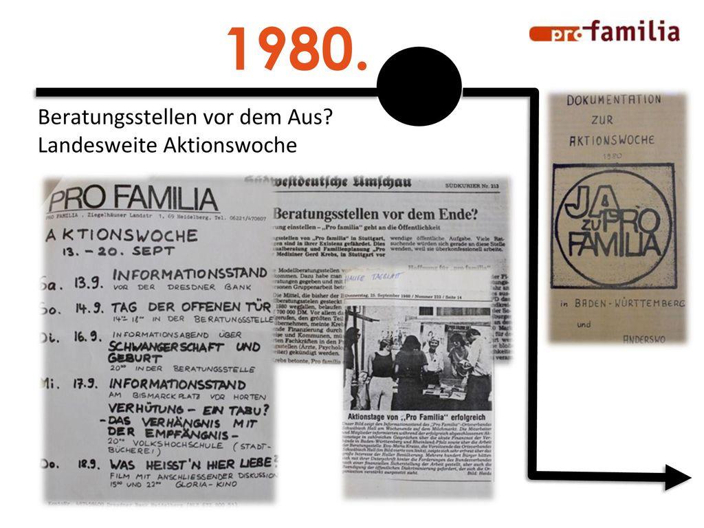 1980. Beratungsstellen vor dem Aus Landesweite Aktionswoche
