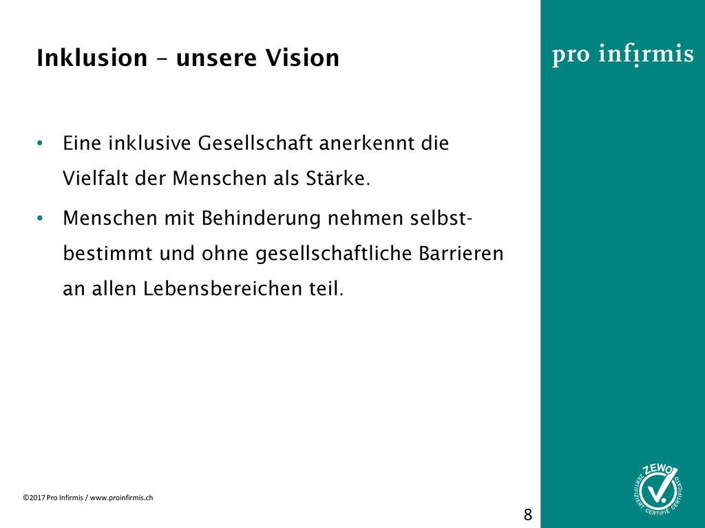 Inklusion – unsere Vision