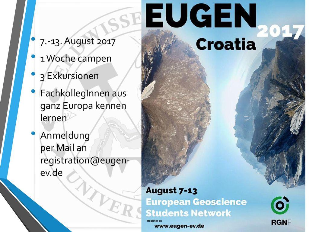 7.-13. August 2017 1 Woche campen. 3 Exkursionen. FachkollegInnen aus ganz Europa kennen lernen.