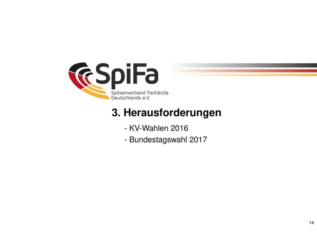 3. Herausforderungen - KV-Wahlen 2016 - Bundestagswahl 2017