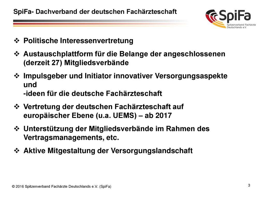SpiFa- Dachverband der deutschen Fachärzteschaft