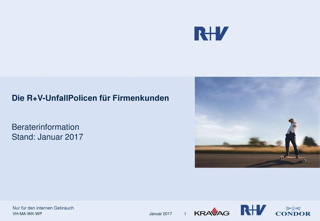 Die R+V-UnfallPolicen für Firmenkunden