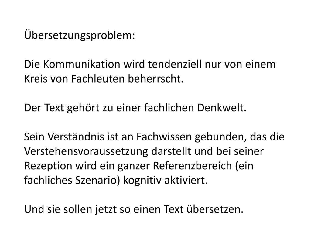 Übersetzungsproblem: