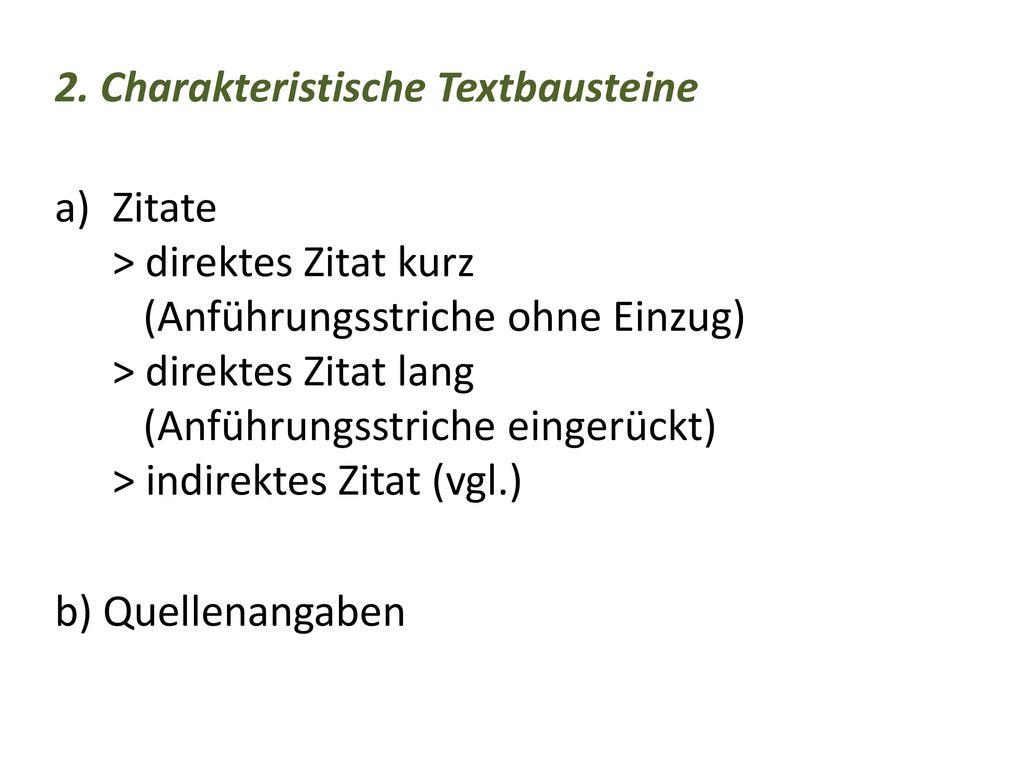 2. Charakteristische Textbausteine