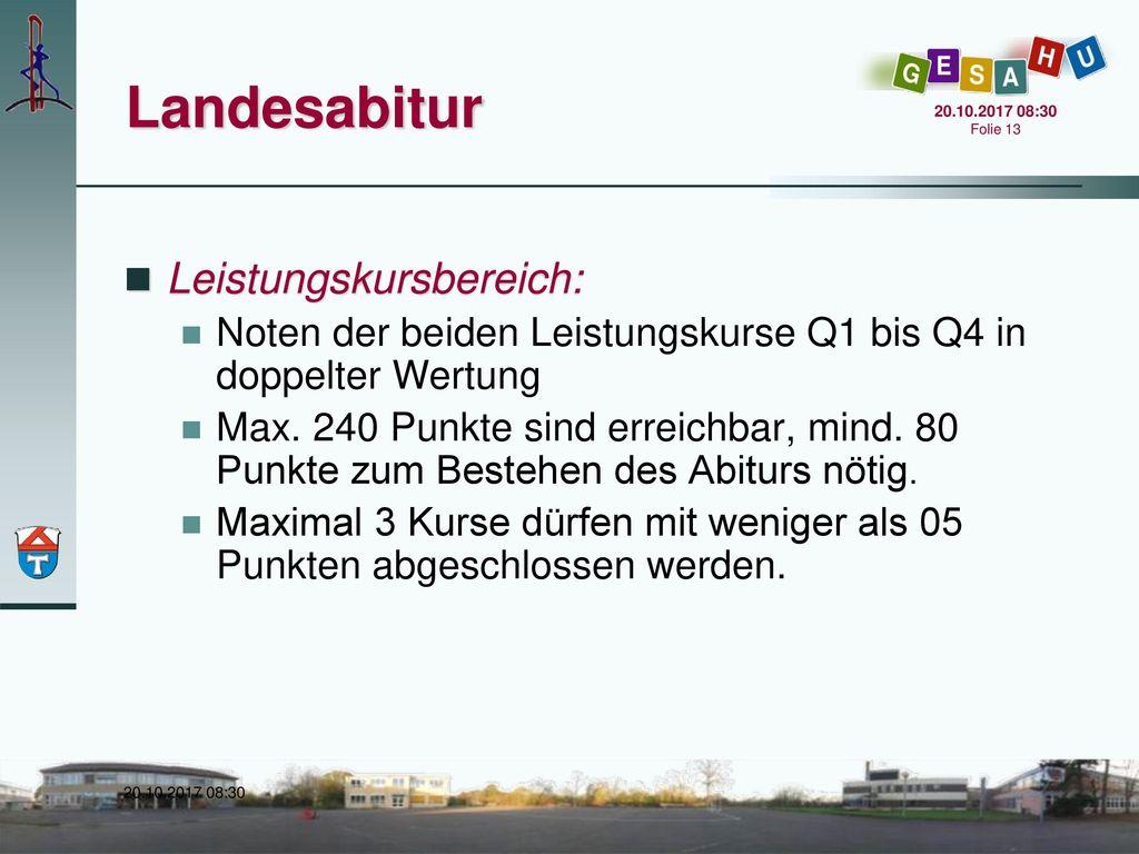 Landesabitur Leistungskursbereich: