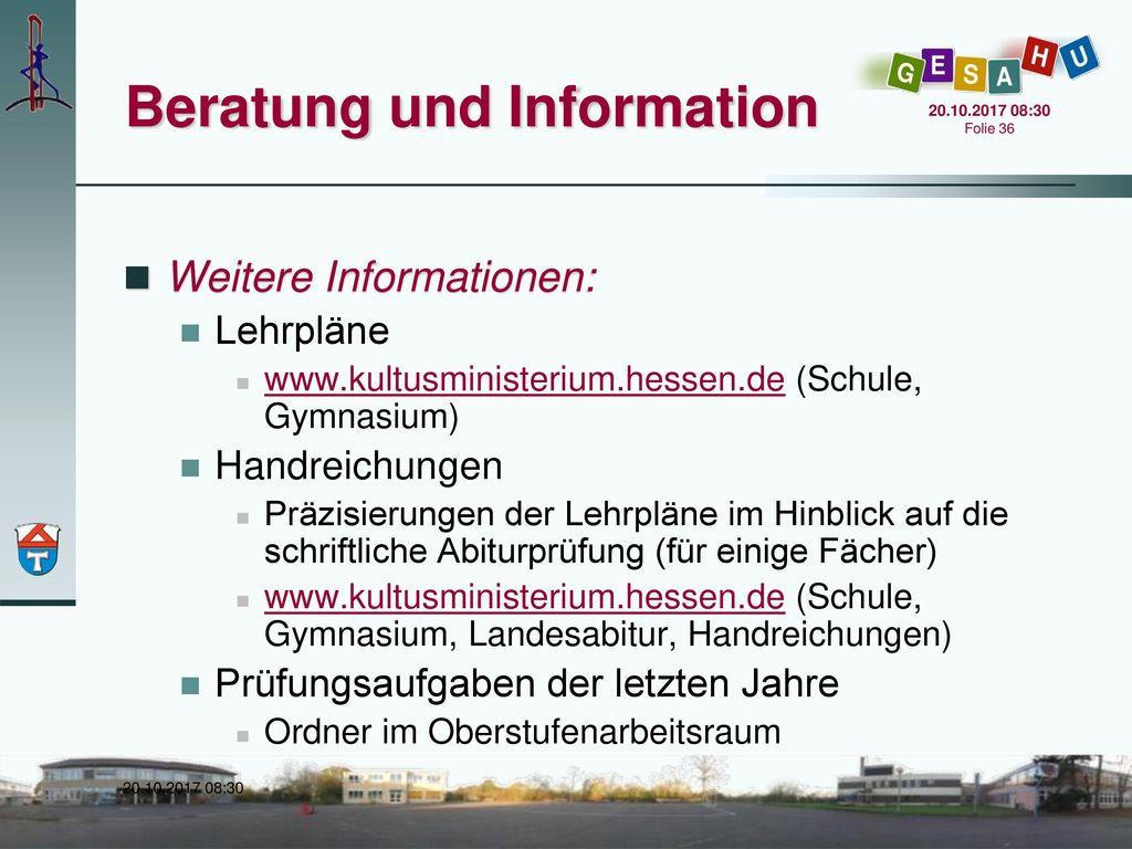 Beratung und Information