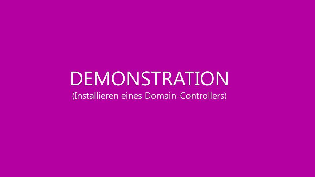 (Installieren eines Domain-Controllers)