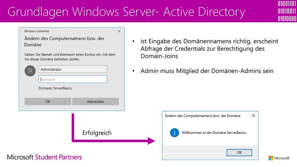 Grundlagen Windows Server- Active Directory
