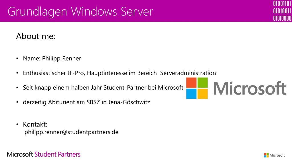 Grundlagen Windows Server