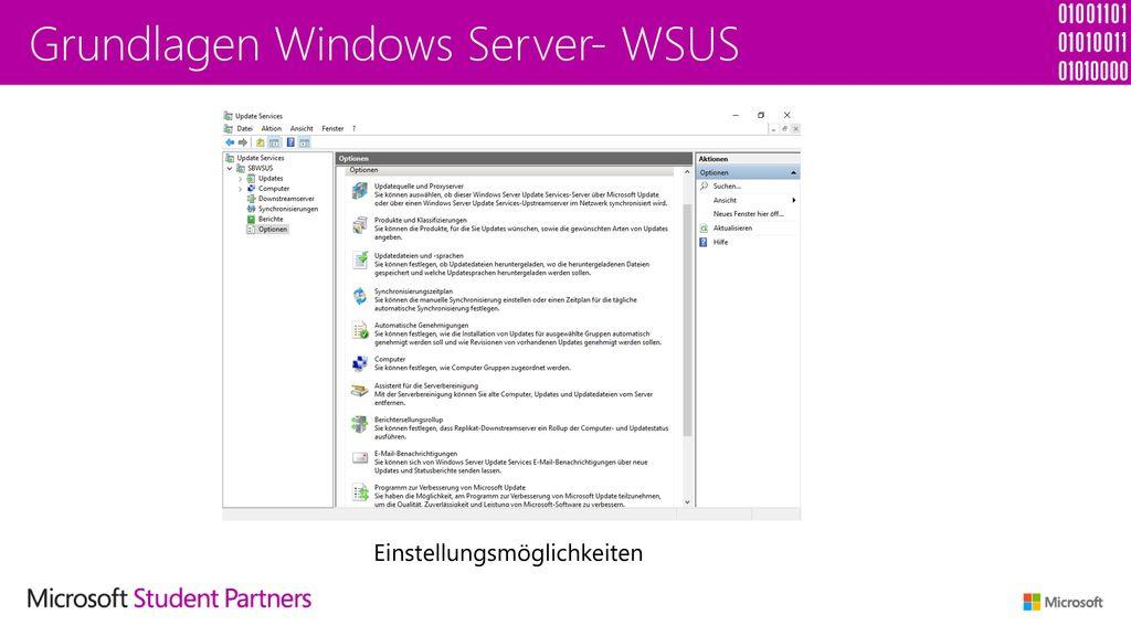 Grundlagen Windows Server- WSUS