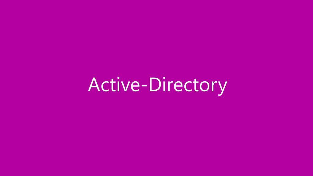 Active-Directory