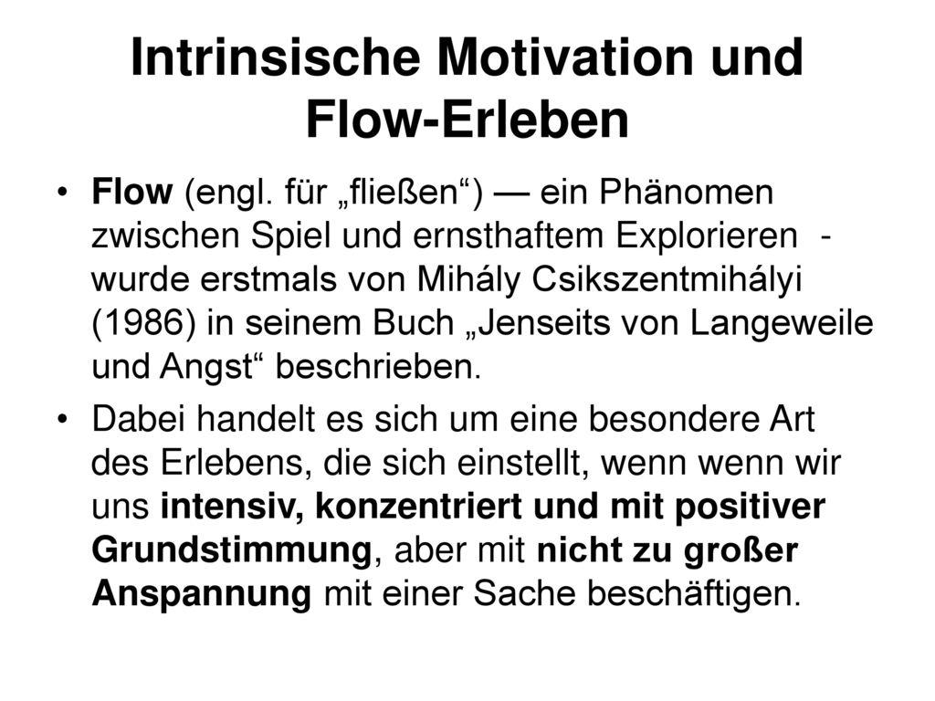 Intrinsische Motivation und Flow-Erleben