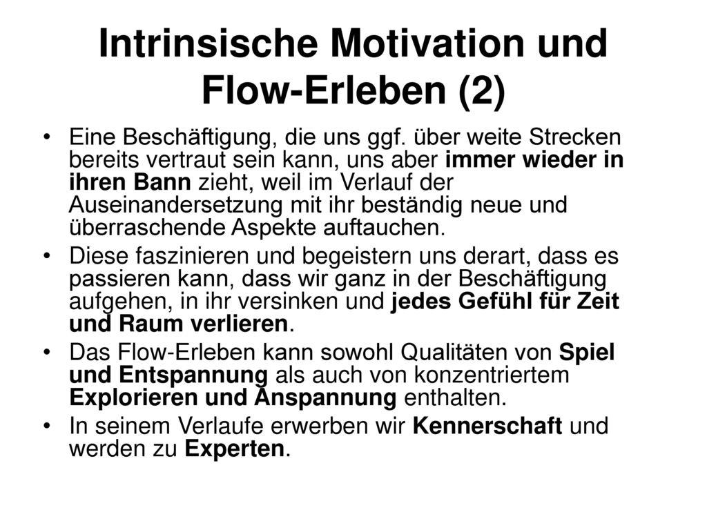 Intrinsische Motivation und Flow-Erleben (2)