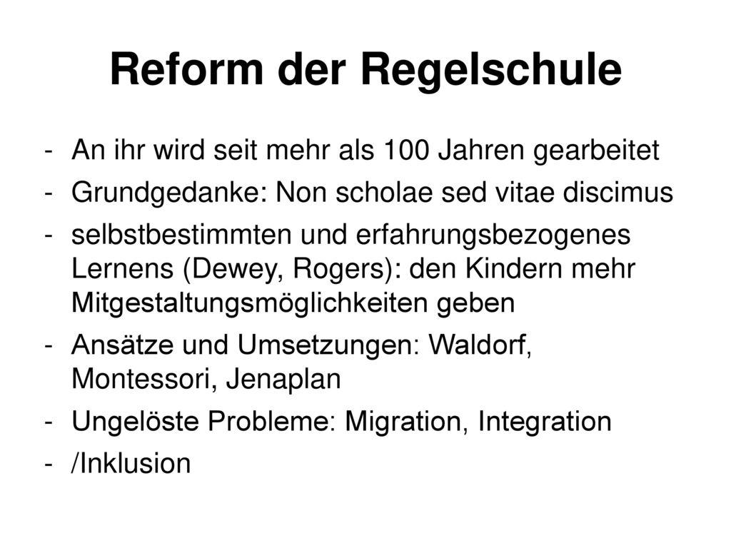 Reform der Regelschule