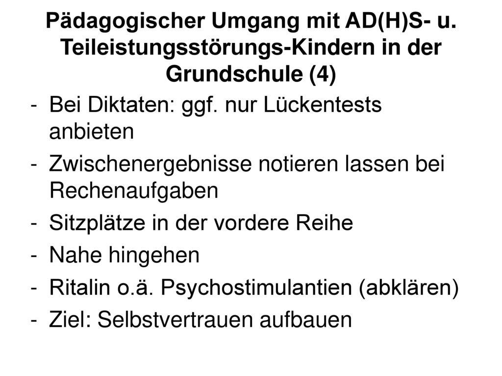 Pädagogischer Umgang mit AD(H)S- u
