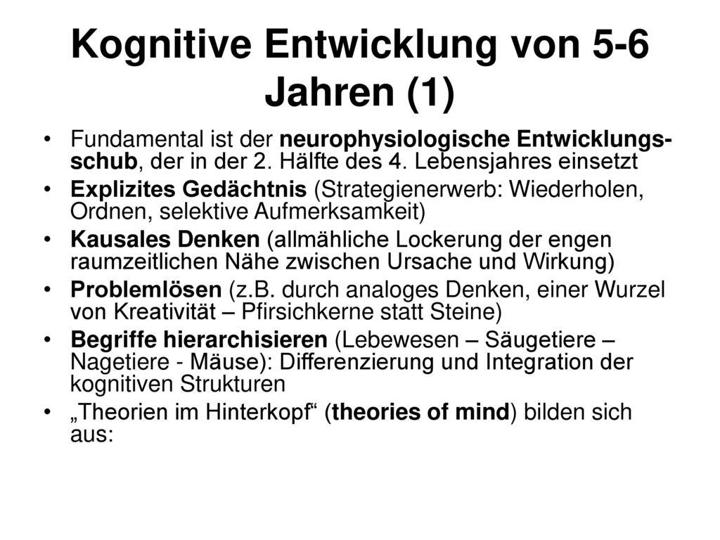 Kognitive Entwicklung von 5-6 Jahren (1)