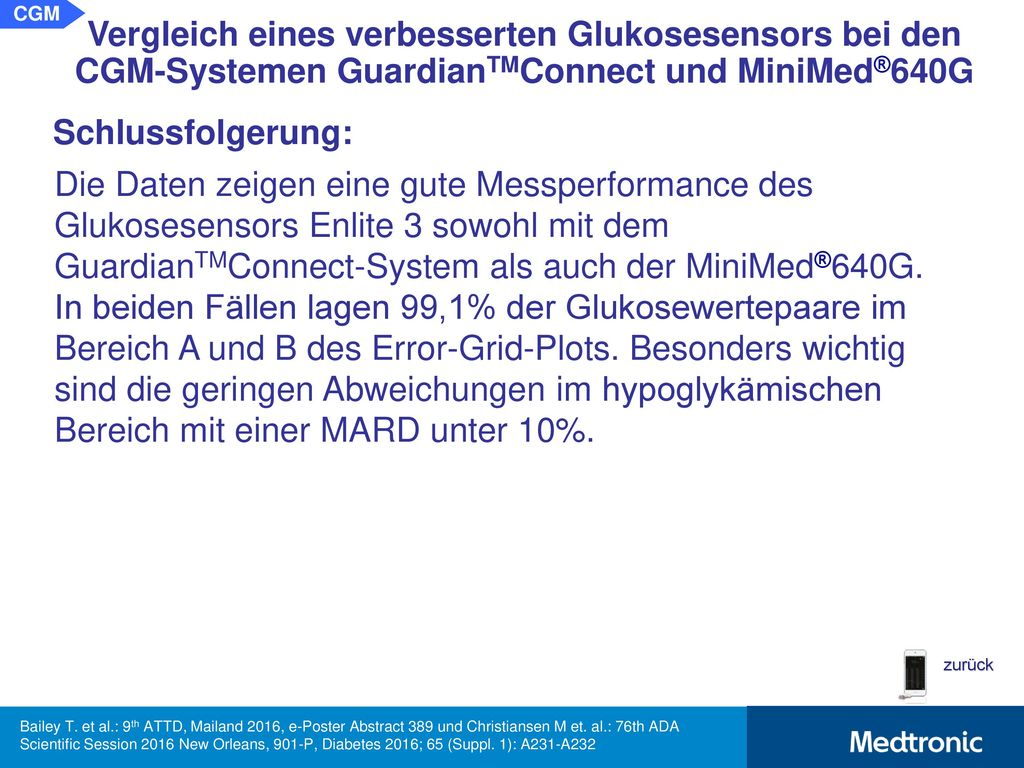 MESSPERFORMANCE EINES GLUKOSESENSORS MIT REDUNDANTEN MESSSTELLEN