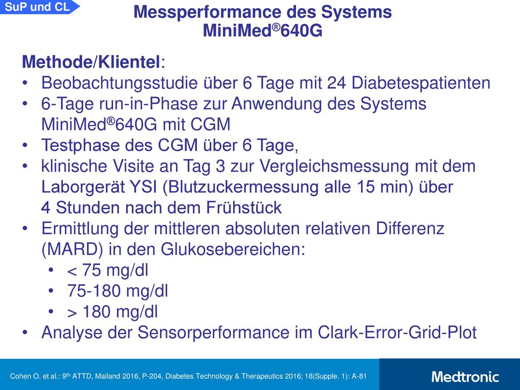 Messperformance des Systems MiniMed®640G