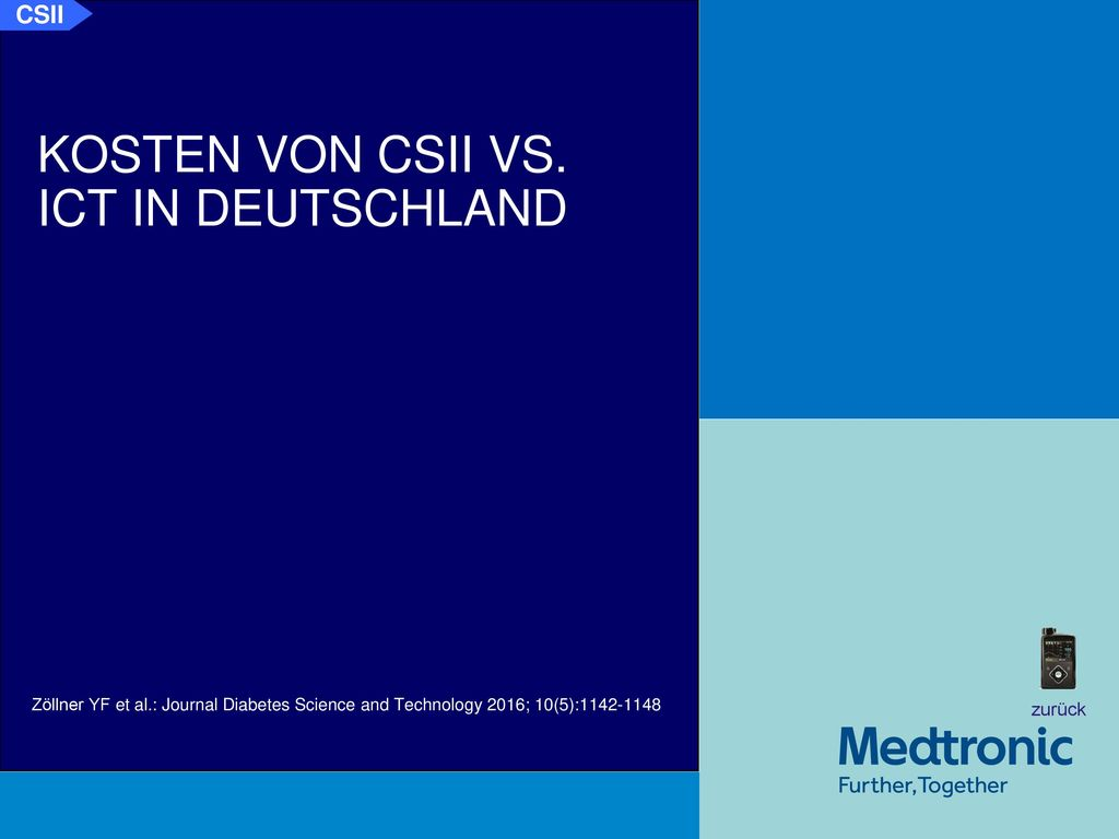 Kosten CSII vs. ICT in Deutschland