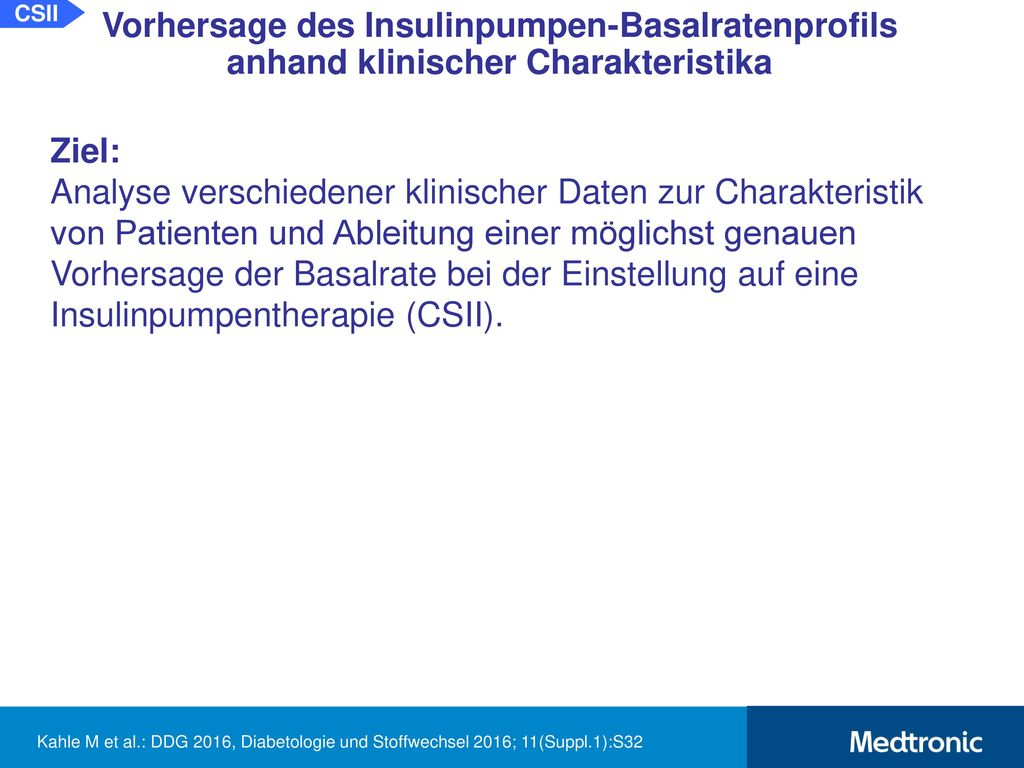 Therapieoptimierung (Basalrate) durch 24 h Fastentest*