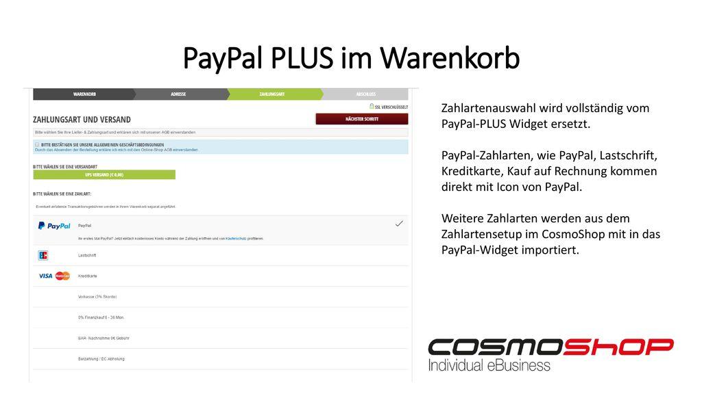 PayPal PLUS im Warenkorb