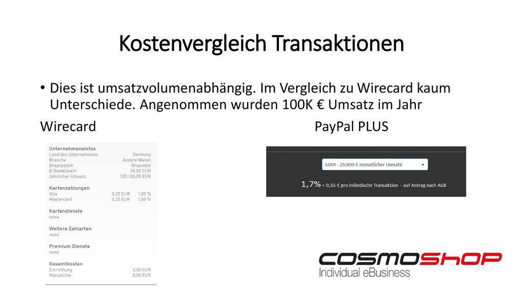 Kostenvergleich Transaktionen