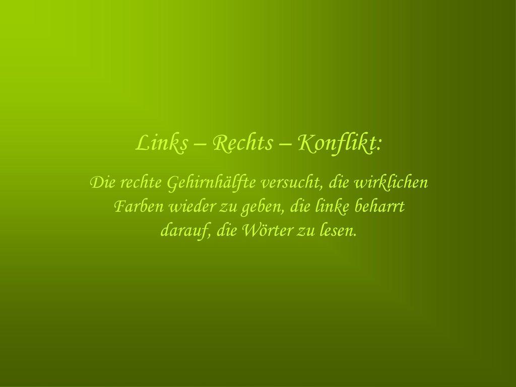 Links – Rechts – Konflikt: