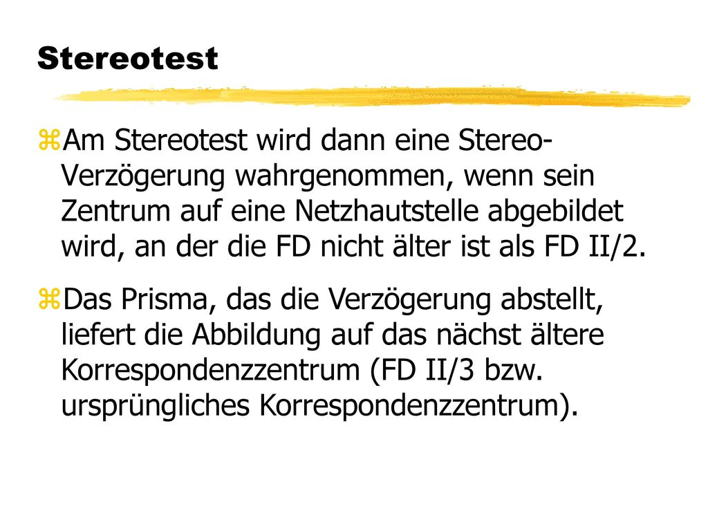 Stereotest