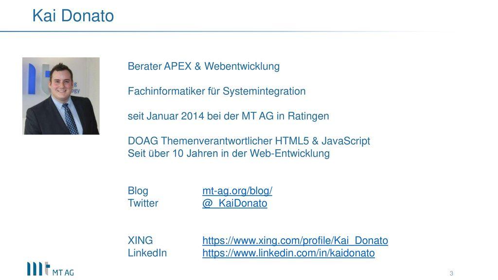 Kai Donato Berater APEX & Webentwicklung