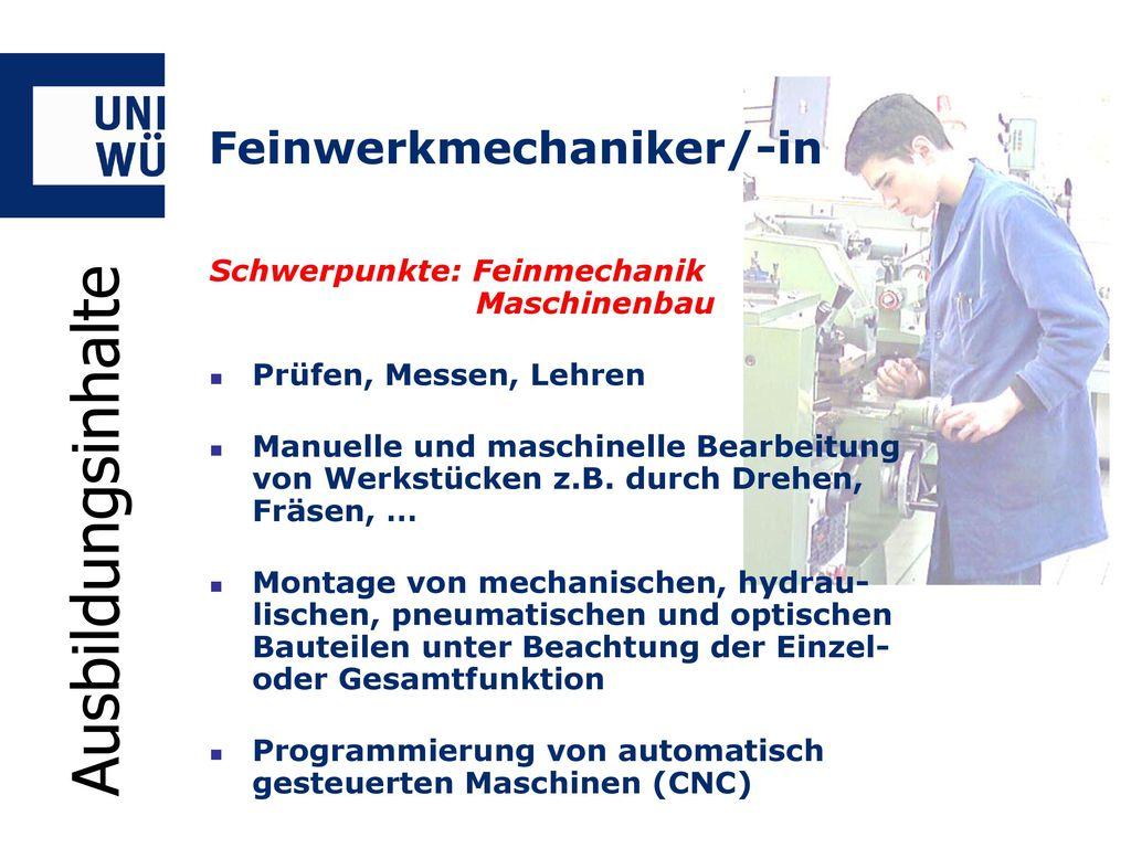 Feinwerkmechaniker/-in