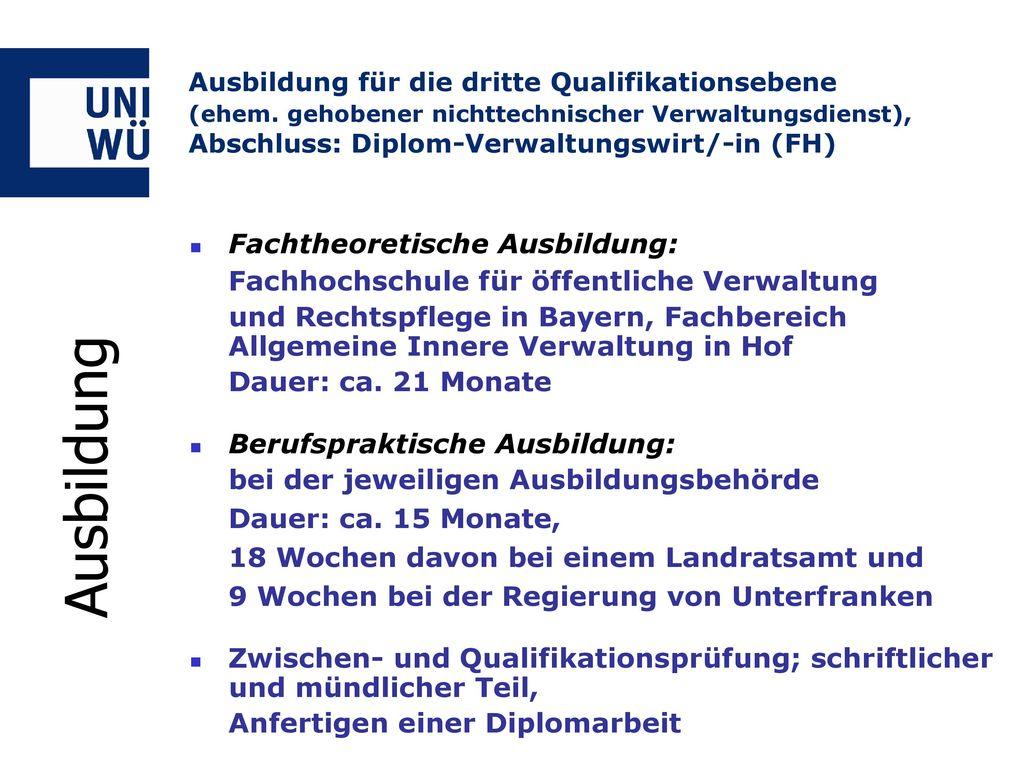 Ausbildung Fachhochschule für öffentliche Verwaltung