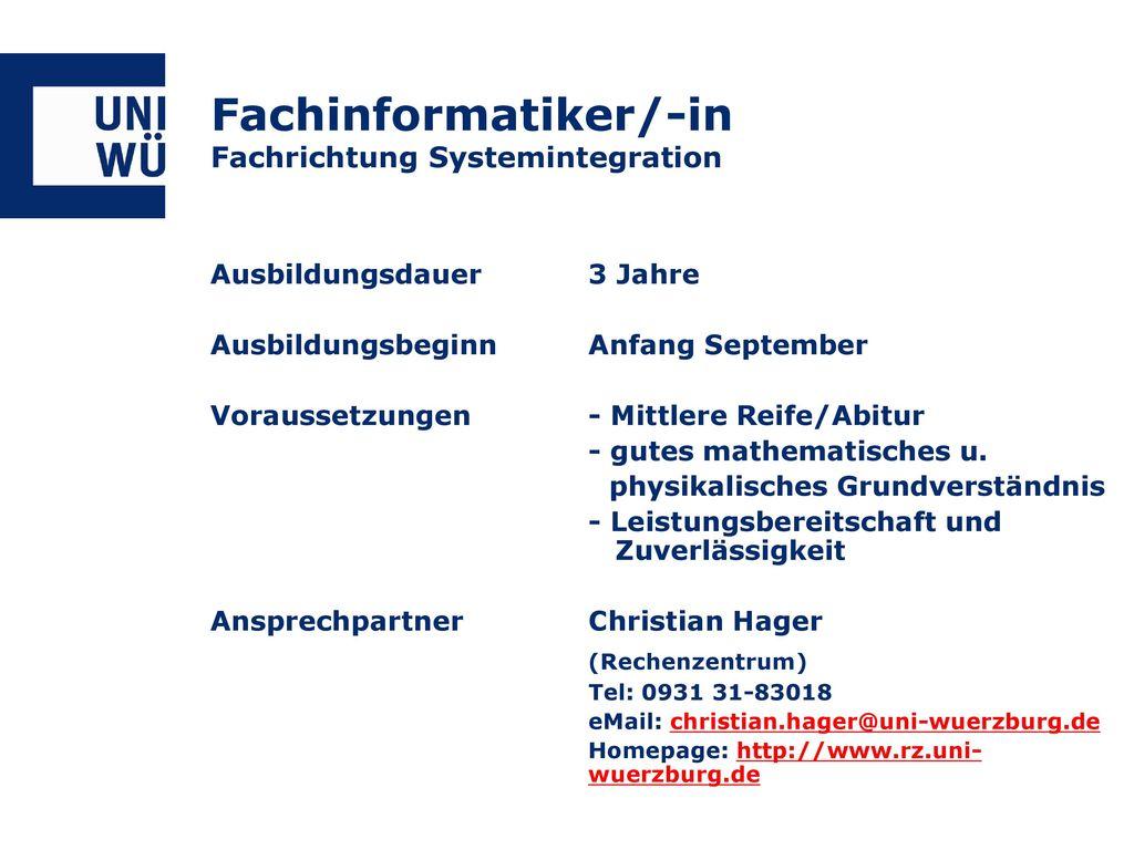 Fachinformatiker/-in Fachrichtung Systemintegration