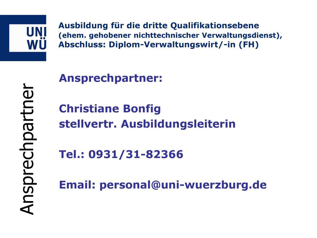 Ansprechpartner Ansprechpartner: Christiane Bonfig
