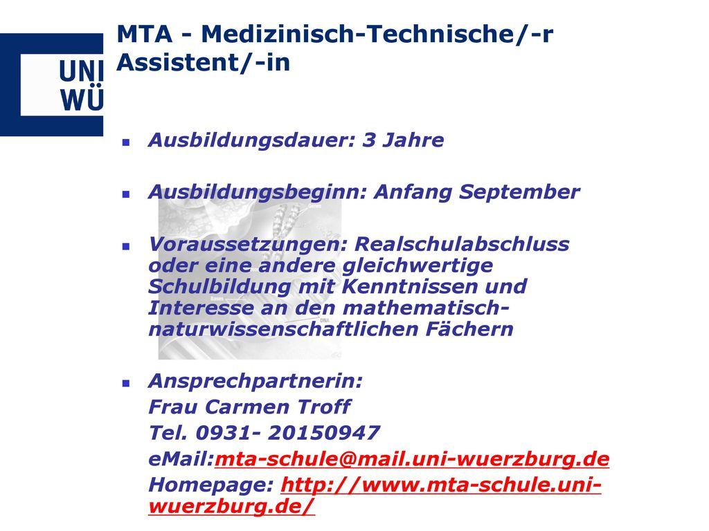 MTA - Medizinisch-Technische/-r Assistent/-in