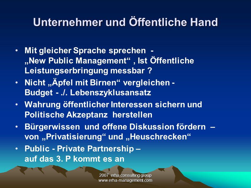 Unternehmer und Öffentliche Hand