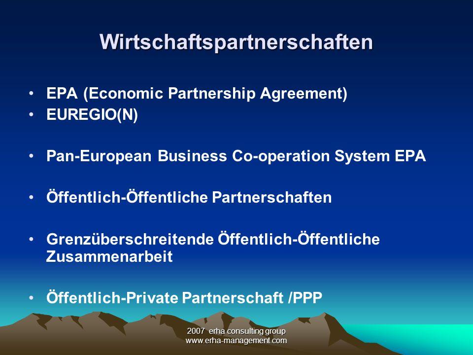 Wirtschaftspartnerschaften