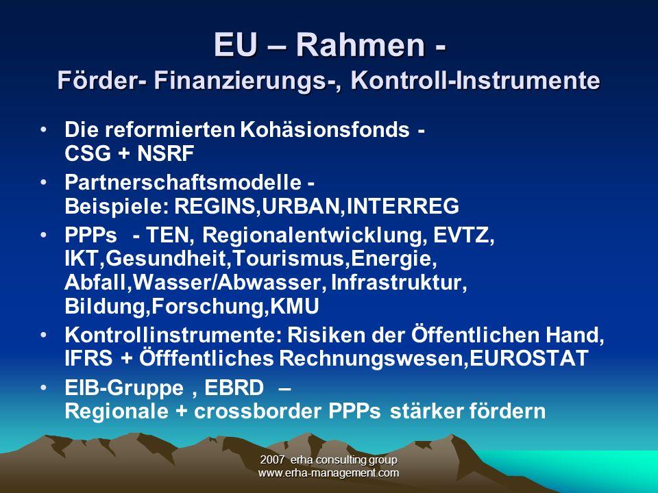 EU – Rahmen - Förder- Finanzierungs-, Kontroll-Instrumente