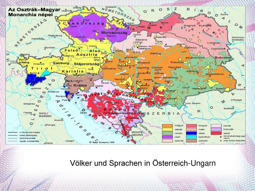 Völker und Sprachen in Österreich-Ungarn