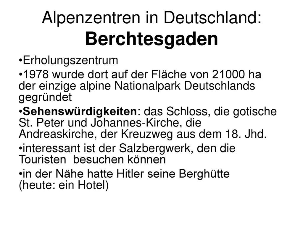 Alpenzentren in Deutschland: Berchtesgaden