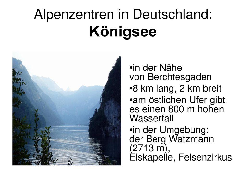 Alpenzentren in Deutschland: Königsee