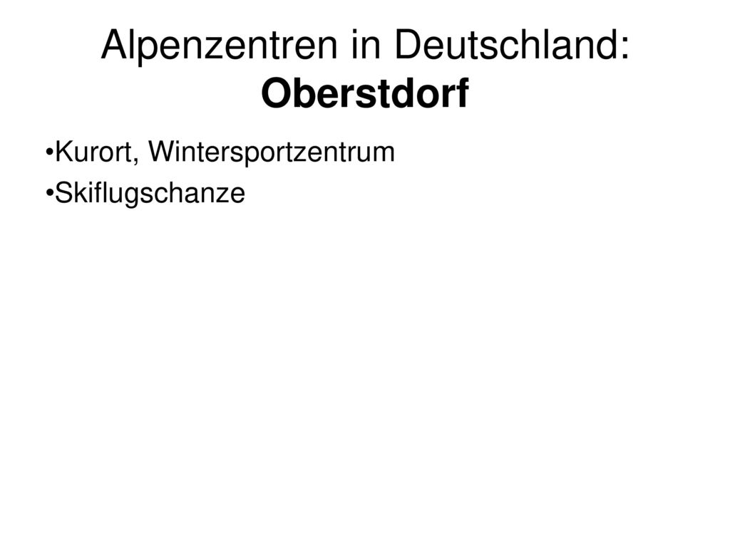 Alpenzentren in Deutschland: Oberstdorf