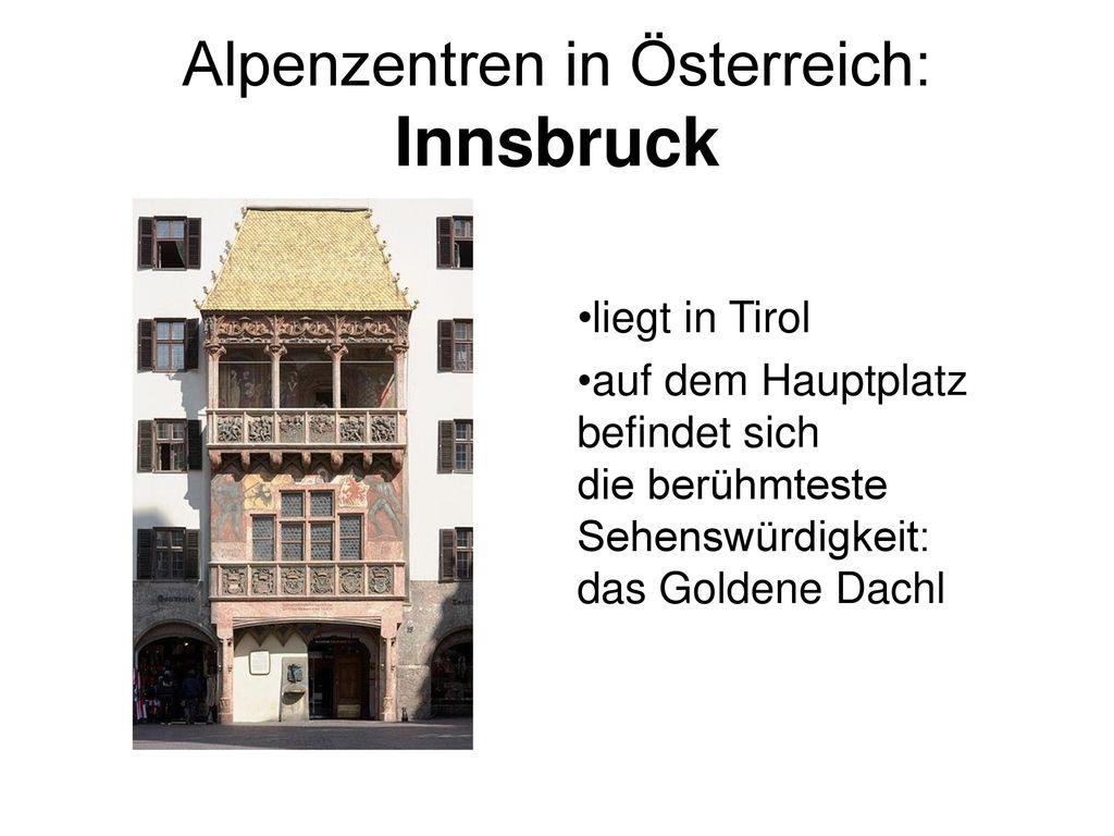 Alpenzentren in Österreich: Innsbruck